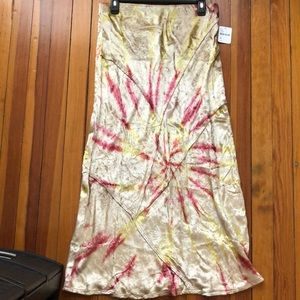 NWT Free People Serious Swagger Tie Dye Skirt Sz M